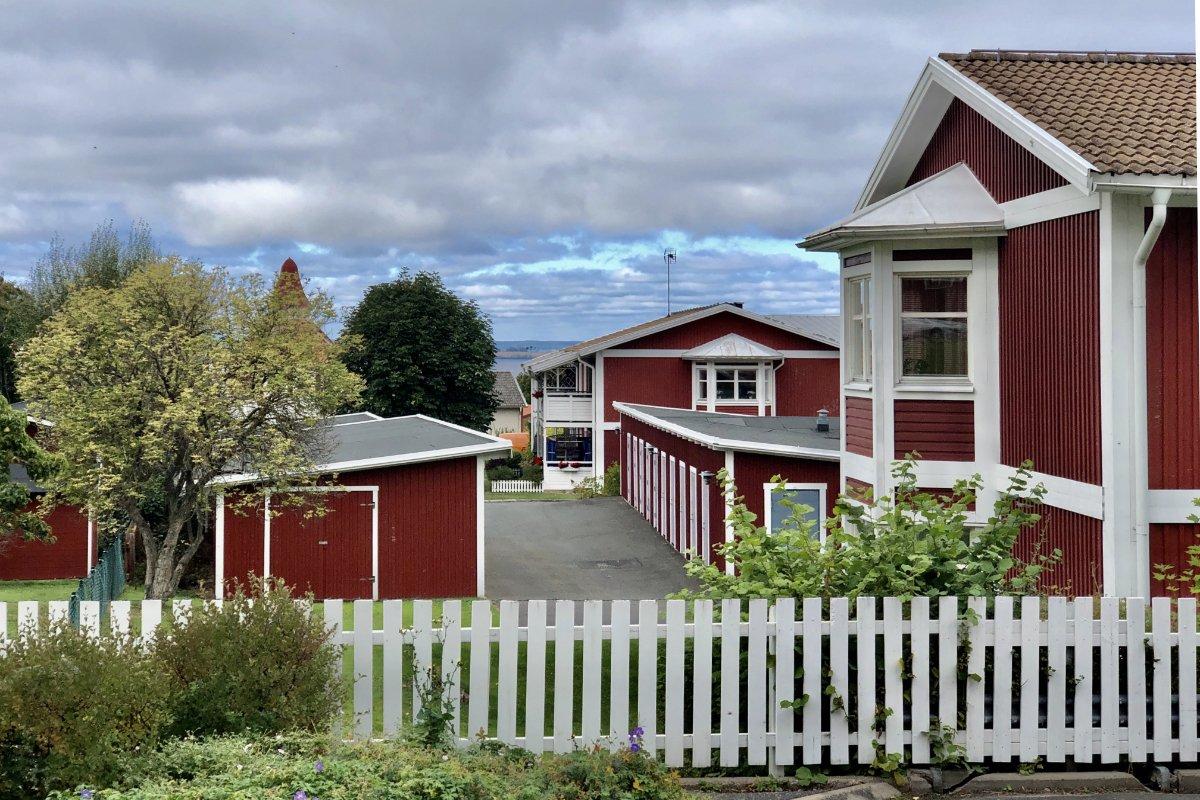 Schöne, gut erhaltene Holzhäuser in Gränna