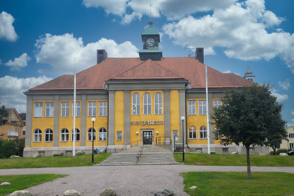 Verwaltungsgebäude des schwedischen Fernsehens