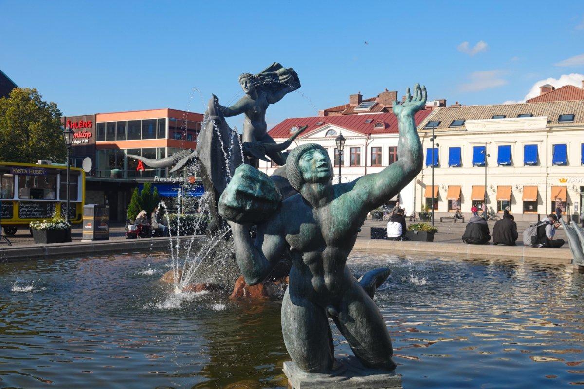 Springbrunnen auf dem Großen Platz