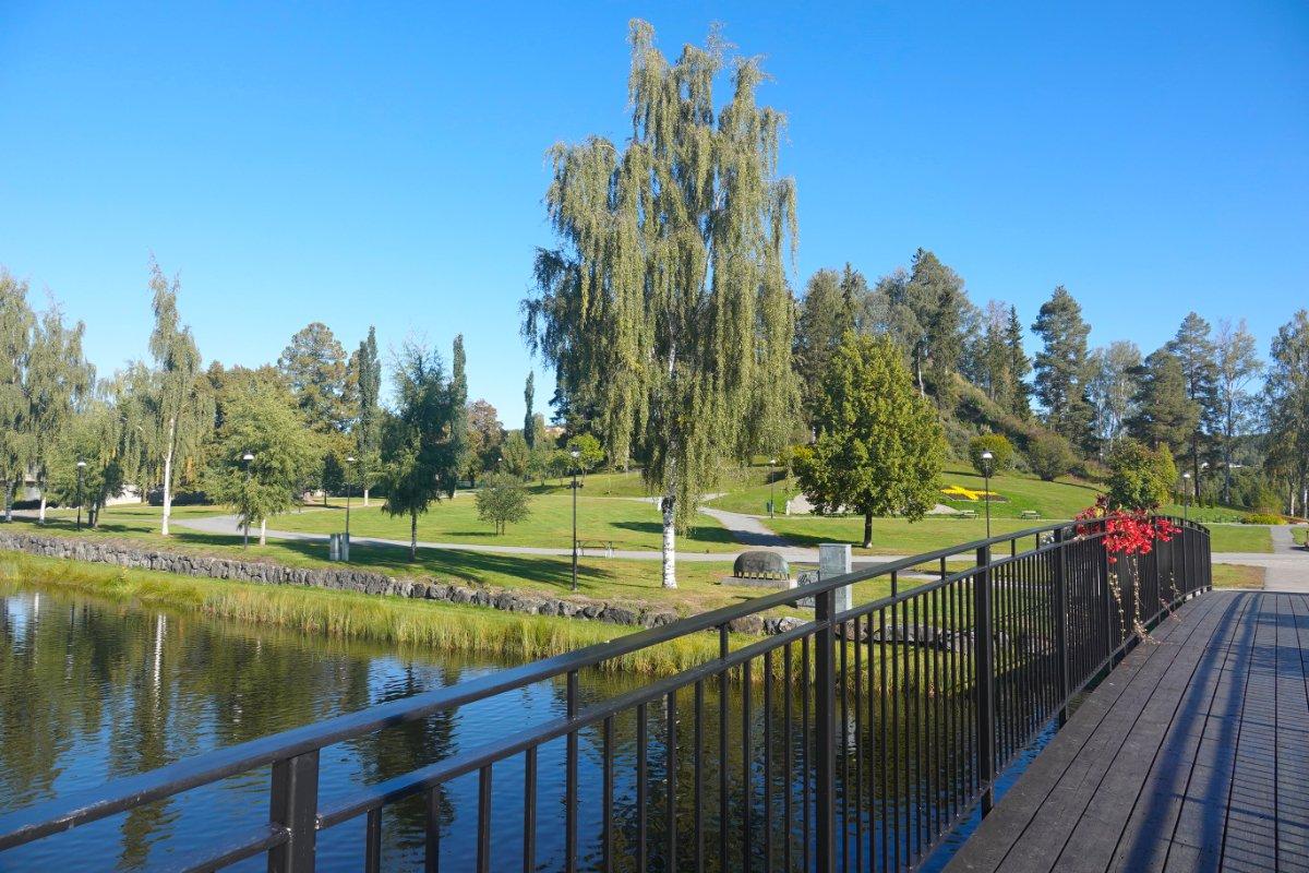 Stadtpark in Sellefteå