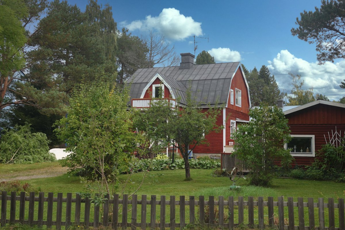 Typisch schwedisches Landhaus in Stocka