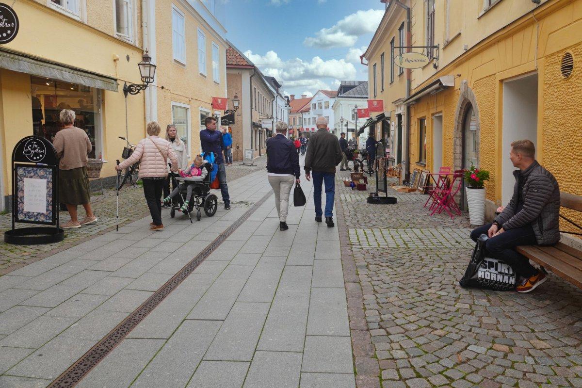 Vadstena Fußgängerzone