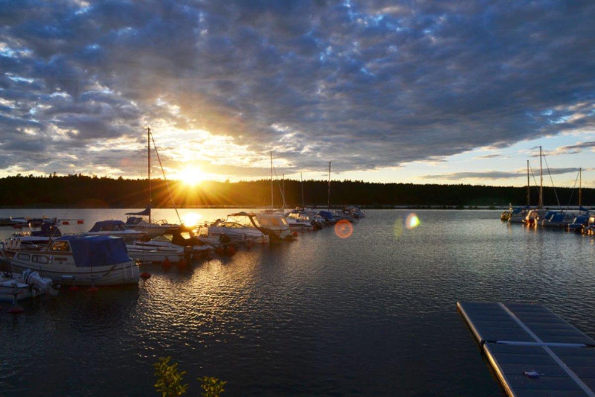 Sonnenuntergang am Vänernsee