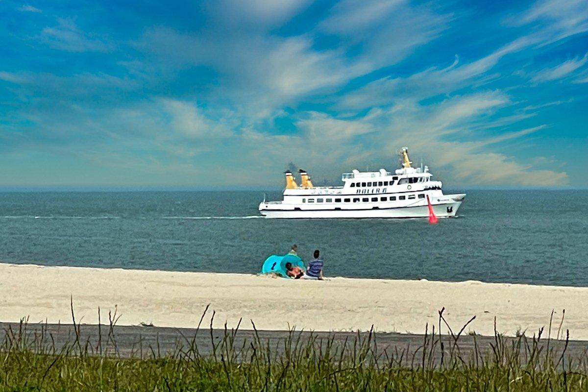 Adler Ausflugsschiff auf dem Weg nach Amrum
