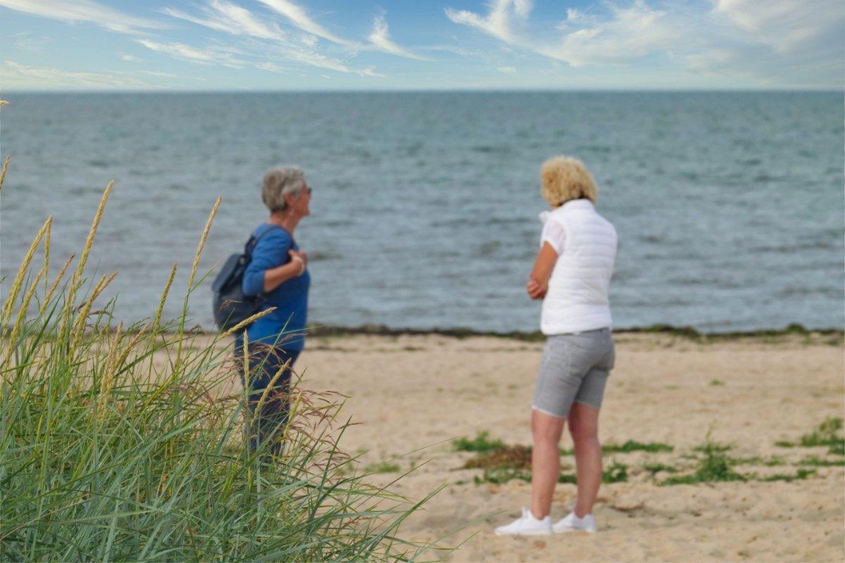 Anne und Ingrid am Strand von Munkmarsch