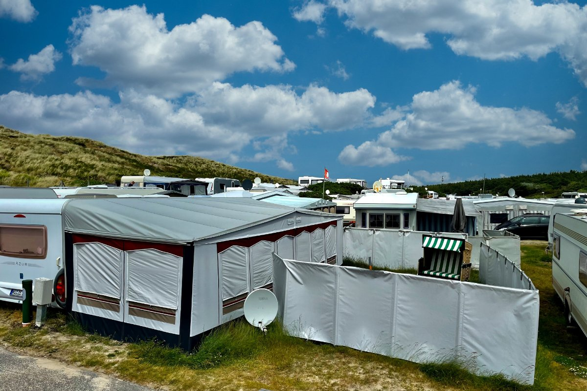 Campingplatz Westerland - alles dicht gedrängt