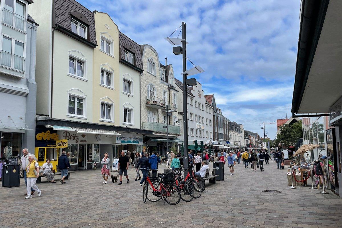 Die Friedrichstraße in Westerland