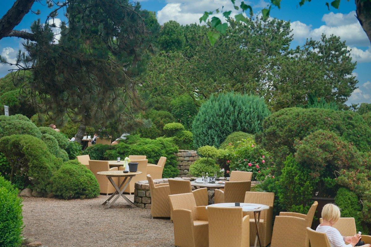 Garten-Café der Kupferkanne in Kampen