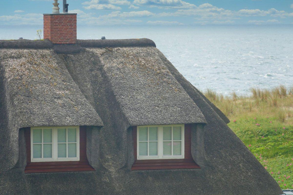 Fredericks Foto vom selben Haus bei ruhiger See