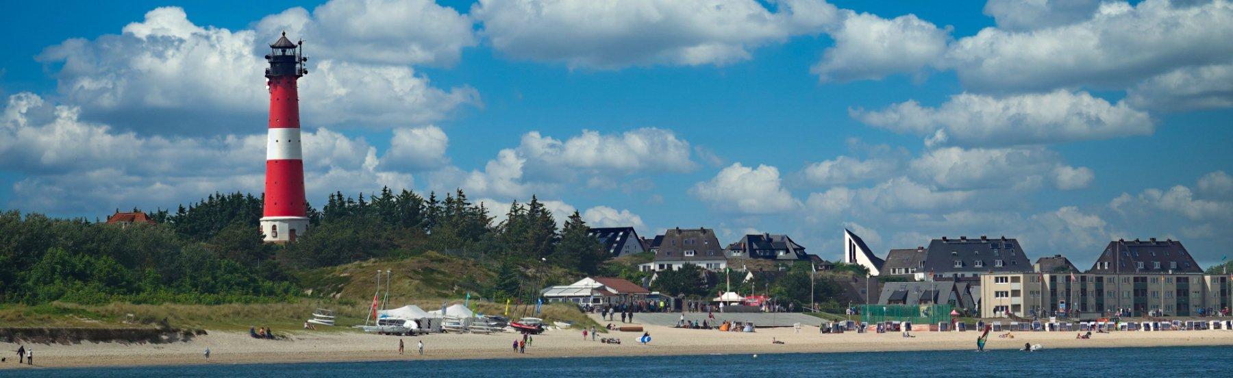 Hörnum Leuchtturm und Strand