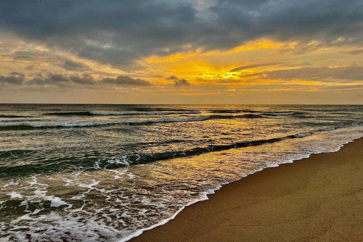 Sonnenuntergang am Strand von Rantum