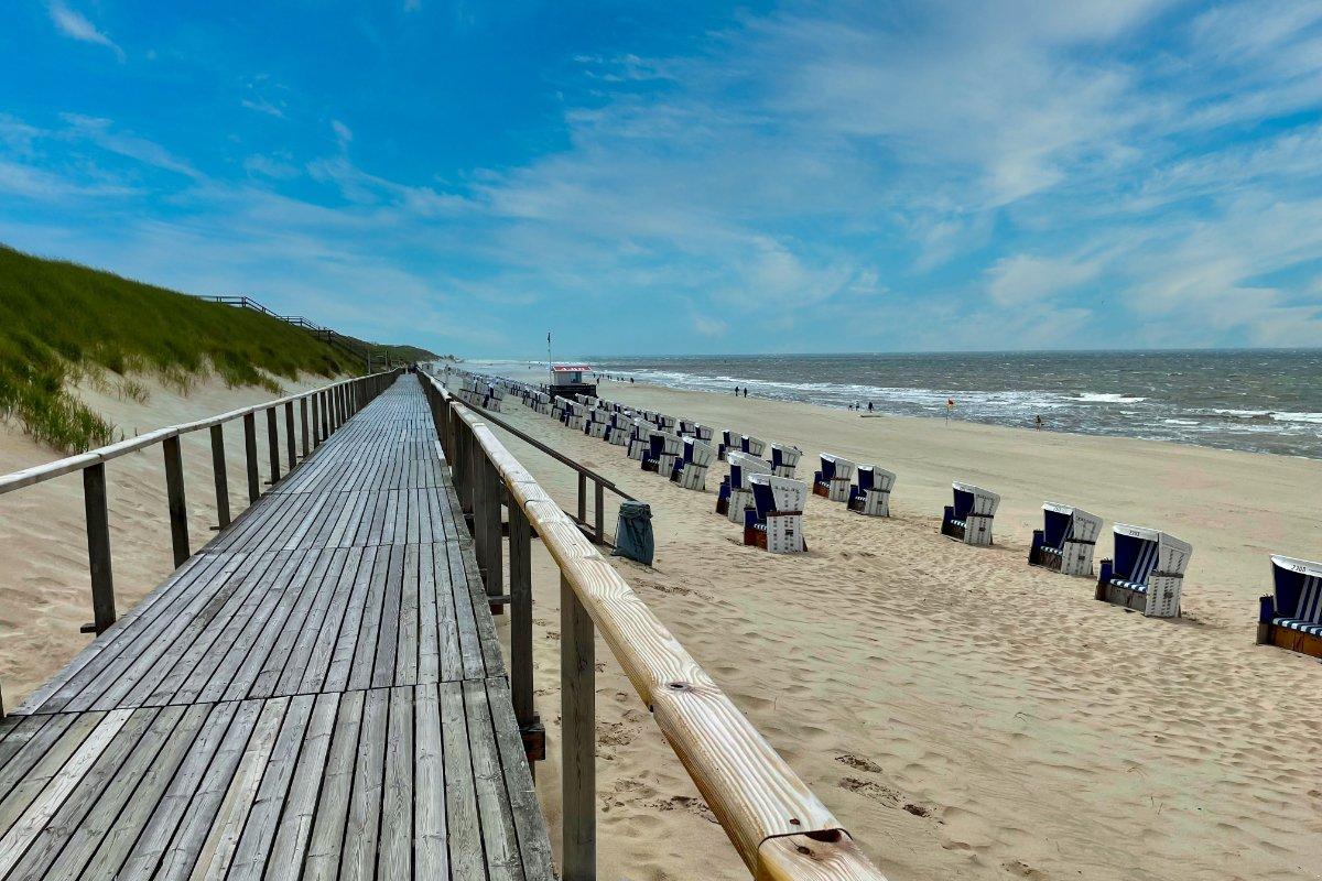 Südliche Bohlen-Strandpromenade Westerland