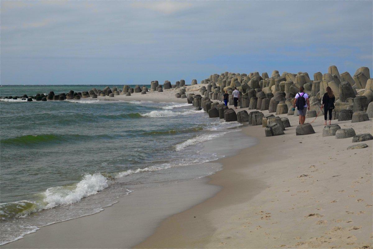 Tetrapoden als Küstenschutz am Hörnumer Weststrand