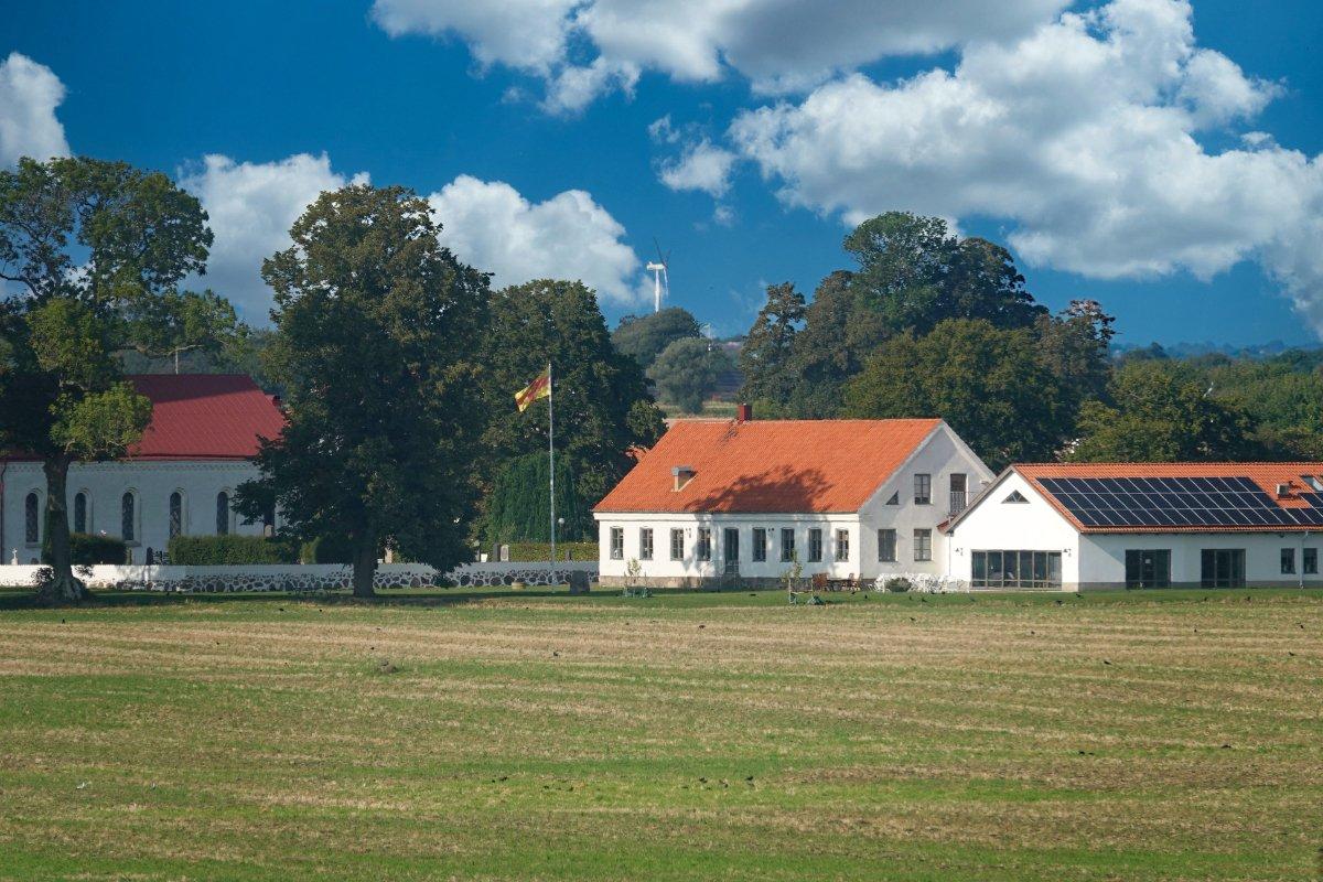 Bauernhof in Skåne (vom Leuchtturm aus aufgenommen)
