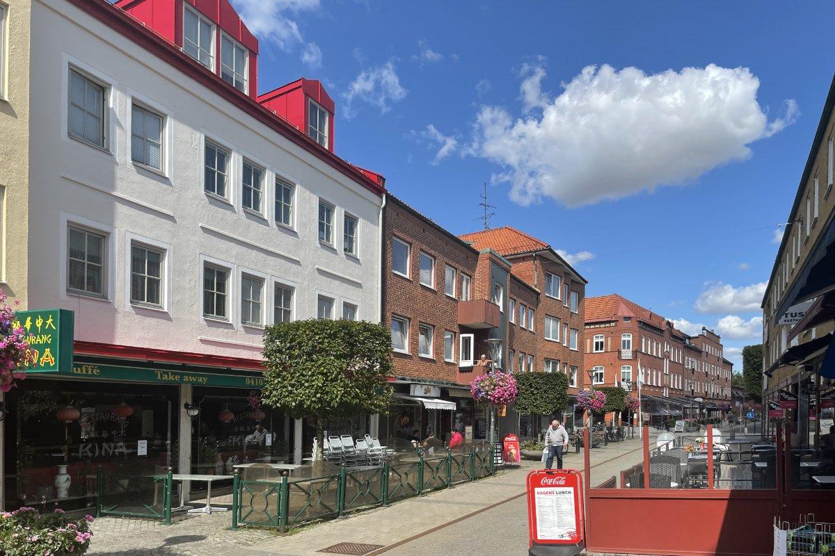 Fußgängerzone in Trelleborg