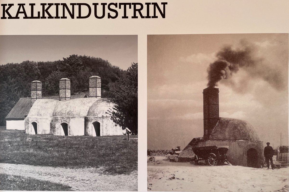 Historisches Foto über die Kalkindustrie
