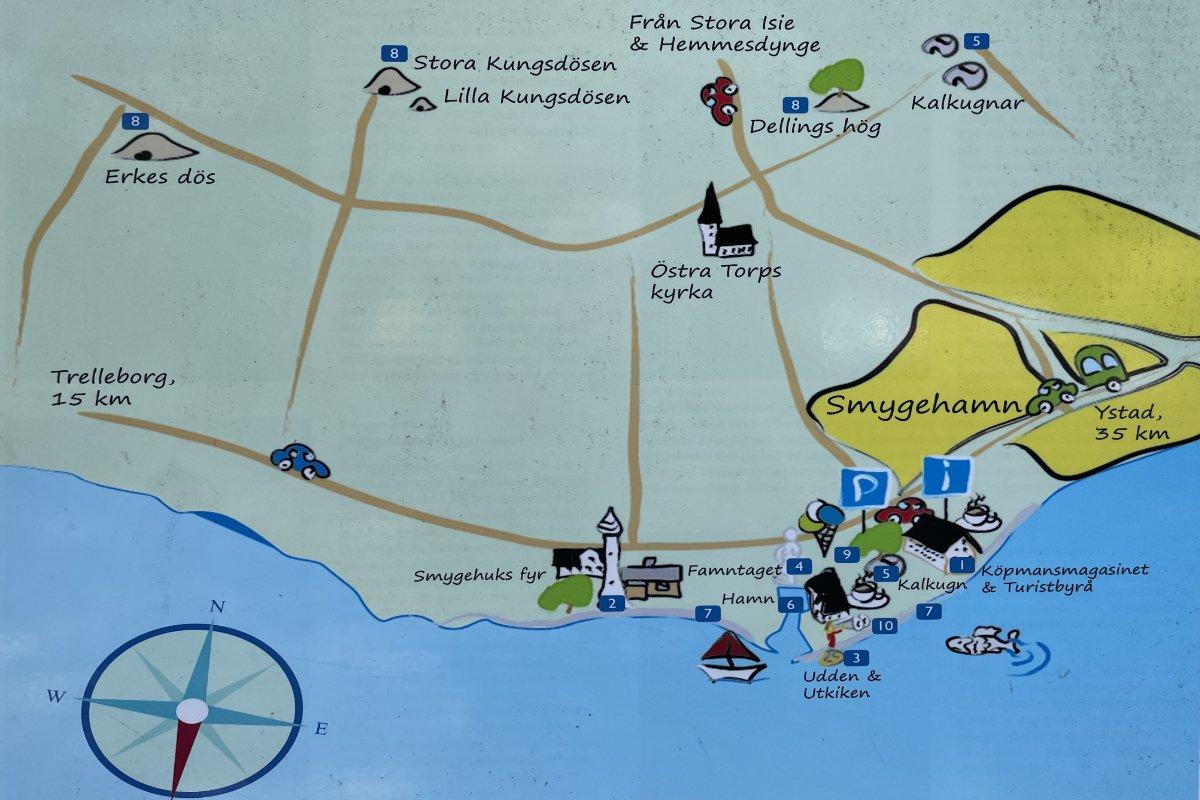 Karte von Smygehuk
