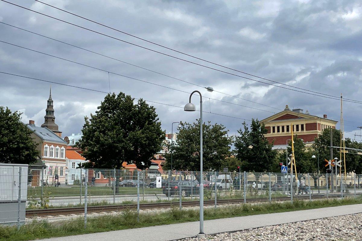 Kirche und Theater in Ystad