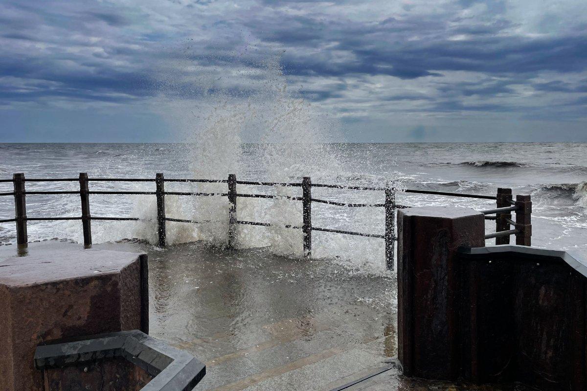Raues Wetter an der Ostsee